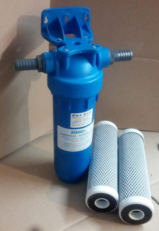 """Carbonblock filter assembly for chlorine removal with DOE 10"""" cartridge 