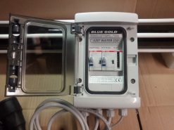 Electric Box to drive two Pumps and one Pressure Switch with hour counter | BLUE GOLD Watermakers